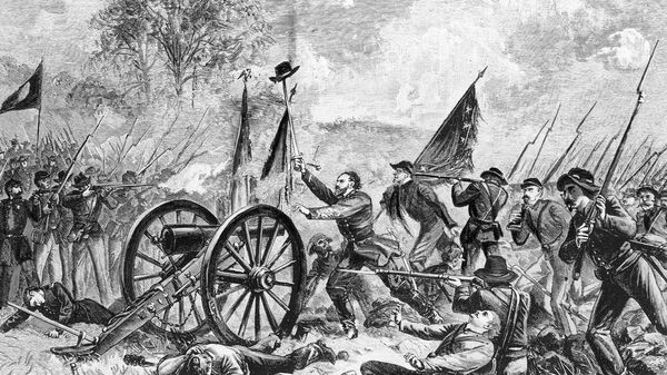 Битва при Геттисберге во время гражданской войны в США