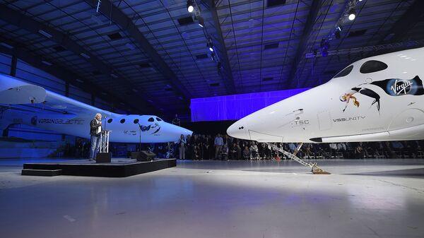 Основатель корпорации Virgin Ричард Брэнсон представляет новый космический корабль SpaceShipTwo