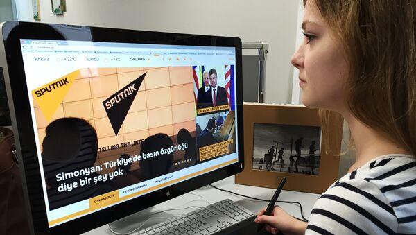 Сайт агентства Sputnik в Турции. Архивное фото