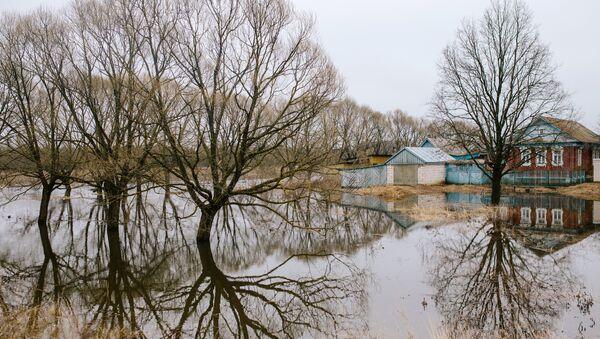 Участок территории, затопленный в результате паводка. Архивное фото