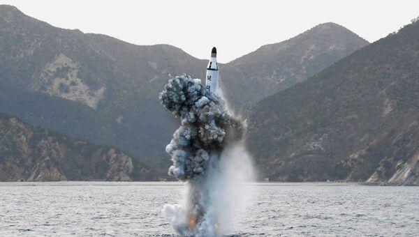 Пуск баллистической ракеты КНДР, 24 апреля 2016