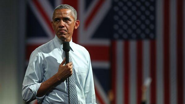 Барак Обама во время выступления о последствиях выхода Великобритания из ЕС в Лондоне. Архивное фото