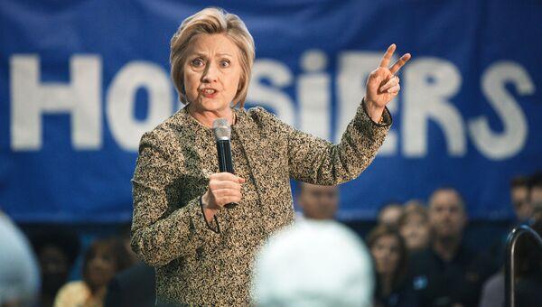 Кандидат в президенты США от Демократической партии Хиллари Клинтон во время предвыборного ралли в городе Индианаполис штата Индиана. Архивное фото.