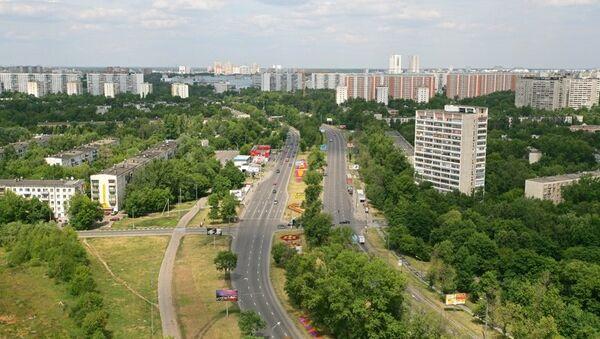 Вид на Бескудниковский район города Москвы. Архивное фото