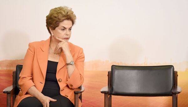 Президент Бразилии Дилма Роуссефф. 2016 год