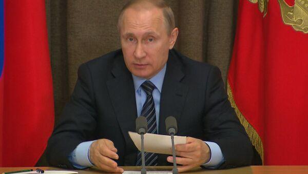 Путин призвал расследовать выявленные проблемы операции ВКС РФ в Сирии