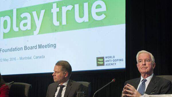 Глава WADA Крейг Риди на совещании агентства в Монреале. Архивное фото