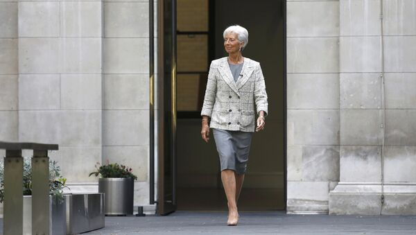 Глава Международного валютного фонда Кристин Лагард на пресс-конференции в Лондоне. Архивное фото