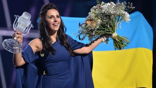 Джамала, победившая в финале международного конкурса Евровидение-2016. Архивное фото
