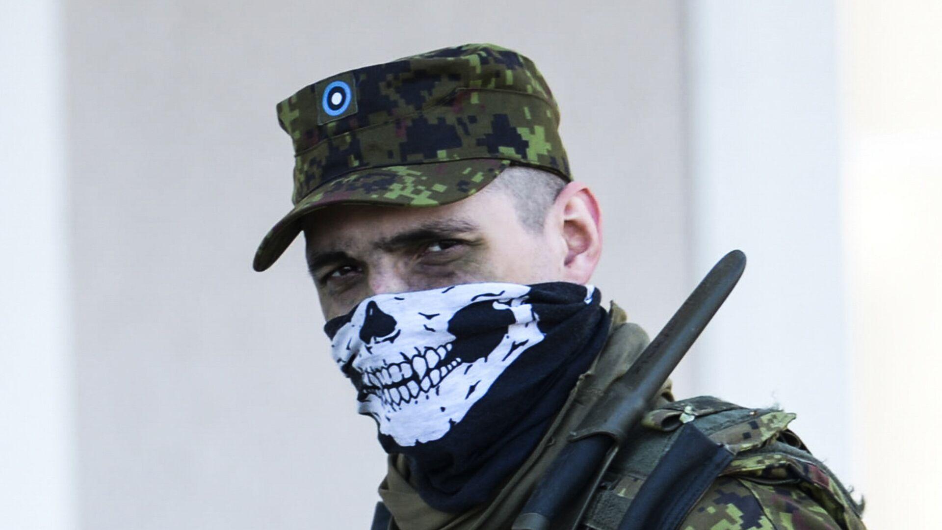 Силы обороны Эстонии совместно с союзниками НАТО во время военных учений Весенний шторм - РИА Новости, 1920, 17.02.2021