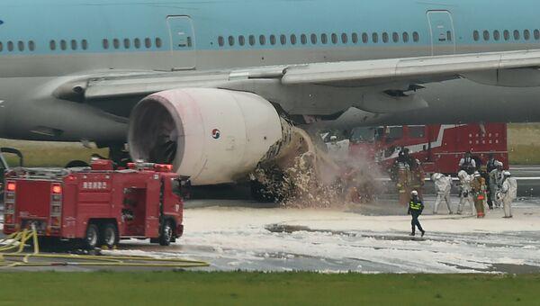 Boeing 777 авиакомпании Korean Air в токийском аэропорту Ханэда. 27 мая 2016