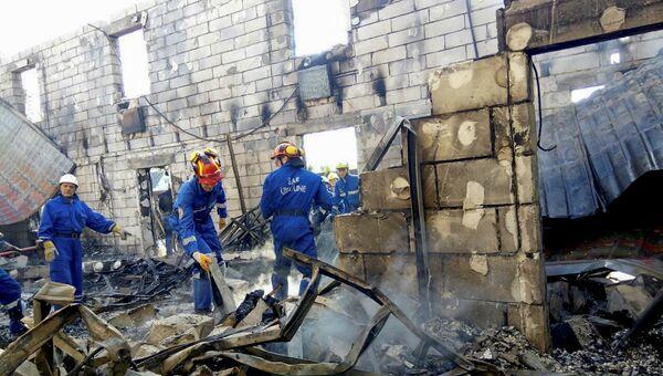 Последствия пожара в доме престарелых под Киевом