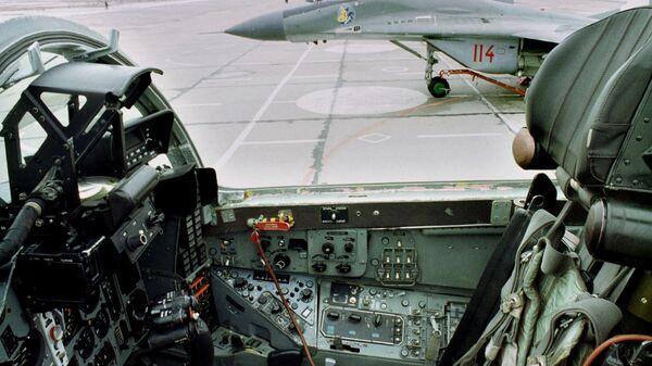 Истребители МиГ-29 ВВС Польше на аэродроме в Миньске-Мазовецком
