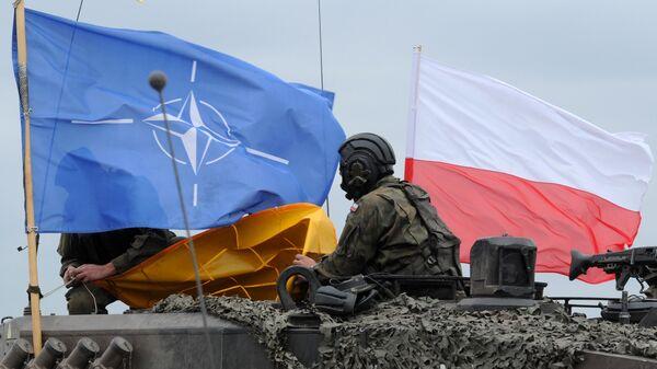 Польские военные во время совместных учений войск НАТО в Польше