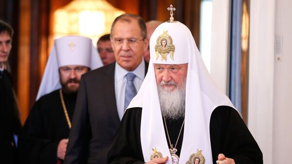 Сергей Лавров и Патриарх Московский и всея Руси Кирилл
