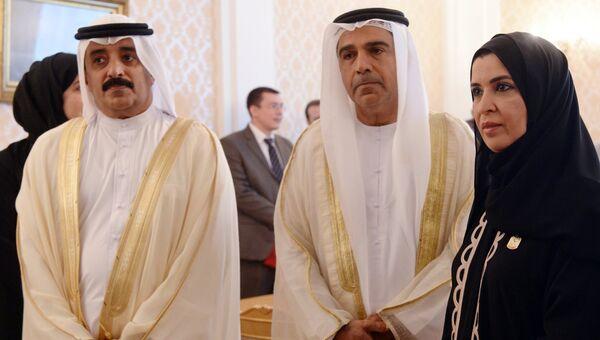 Председатель Федерального национального совета Объединенных Арабских Эмиратов Амаль Аль-Кубейси во время встречи в Москве с министром иностранных дел Российской Федерации Сергеем Лавровым