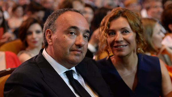 Продюсер Александр Роднянский с супругой Валерией Мирошниченко. Архивное фото