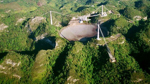 Крупнейший радиотелескоп мира Аресибо в Пуэрто-Рико