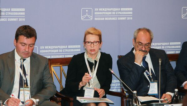 Замглавы Фонда обязательного медицинского страхования Светлана Карчевская во время XIV международной конференции по страхованию