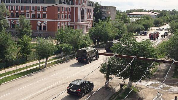Автомобили правоохранительных органов Казахстана в Актобе. Архивное фото