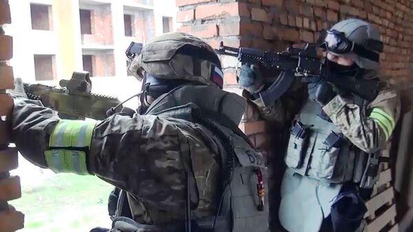 Сотрудники спецподразделения МВД в Дагестане. Архивное фото