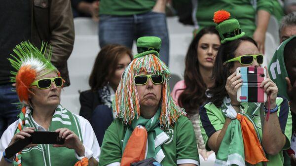 Ирландские болельщики перед началом матча группового этапа чемпионата Европы по футболу - 2016