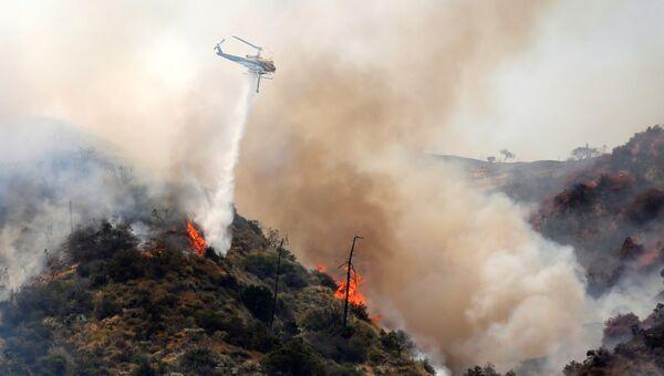 Лесной пожар в Калифорнии. 22 июня 2016