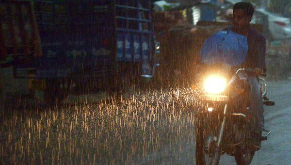 Проливные дожди в Индии. Архивное фото