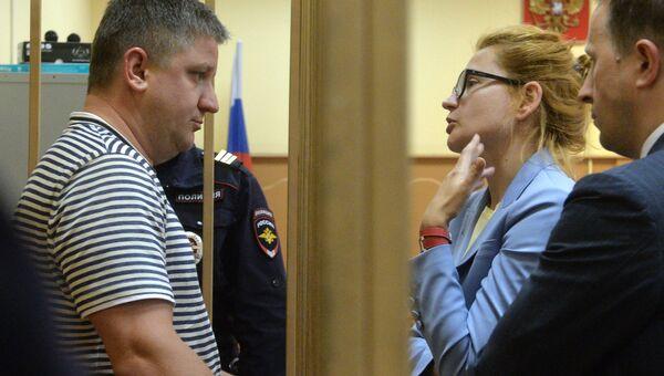 Бывший председатель правления компании РусГидро Евгений Дод, обвиняемый в мошенничестве не менее чем на 73,2 миллиона рублей в здании Басманного суда города Москвы. Архивное фото