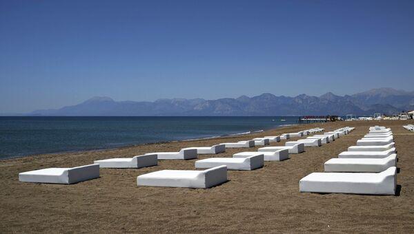 Один из пляжей в Анталье. Архивное фото