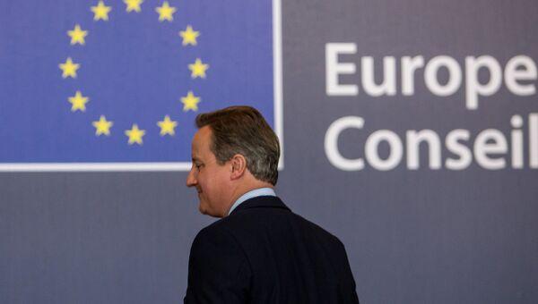 Премьер-министр Великобритании Дэвид Кэмерон во время саммита ЕС в Брюсселе. Архивное фото