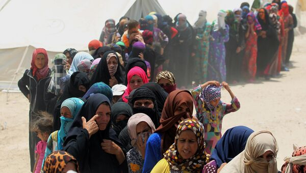 Беженцы из города Эль-Фаллуджа, Ирак. Архивное фото