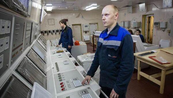 Плавучий энергоблок атомной теплоэлектростанции Академик Ломоносов