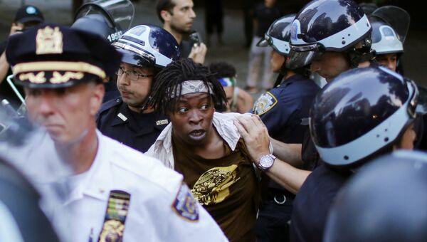 Акция протеста в США против убийства афроамериканцев полицией