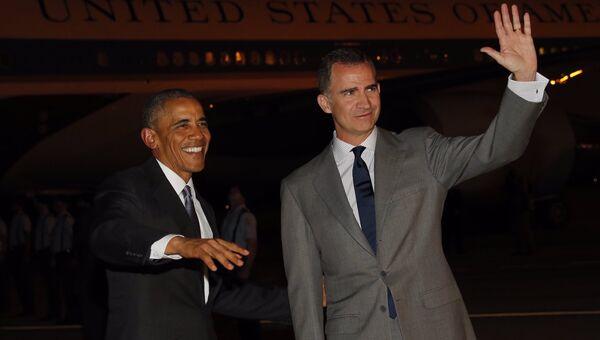 Президент США Барак Обама и король Испании Филипп VI