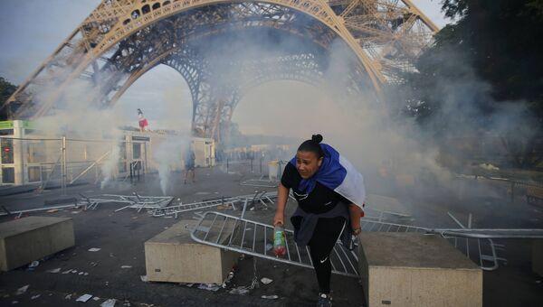 Инциденты вблизи фан-зоны в Париже у Эйфелевой башни, где смотрят финал чемпионата Европы по футболу
