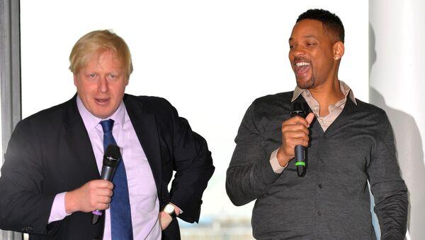 Борис Джонсон и Уилл Смит в мэрии Лондона, 2013