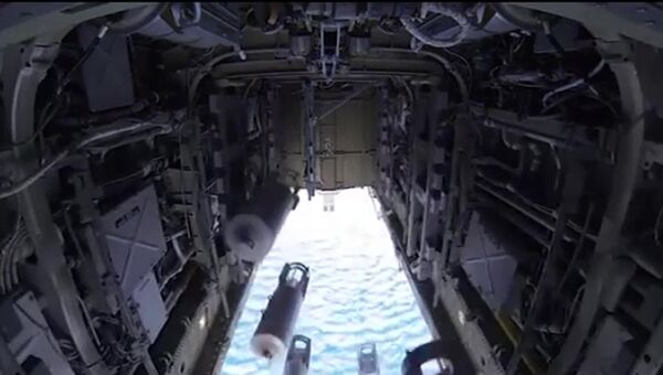 Удар бомбардировщиков Ту-22 по вновь выявленным объектам ИГ в районах Пальмиры. Архивное фото