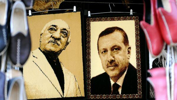 Изображения Фетхуллаха Гюлена и Тайипа Эрдогана. Архивное фото