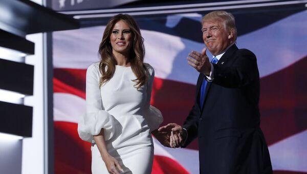 Кандидат в президенты США от Республиканской партии Дональд Трамп с супругой Меланьей. 18 июля 2016