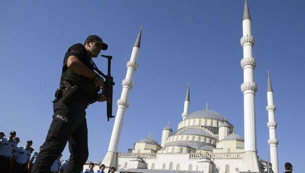 Турецкий полицейский. Архивное фото