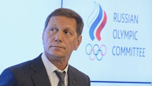 Александр Жуков после заседания Исполкома Олимпийского комитета России в Москве. 20 июля 2016