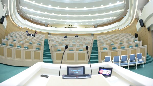 В зале заседаний в Совете Федерации РФ. Архивное фото