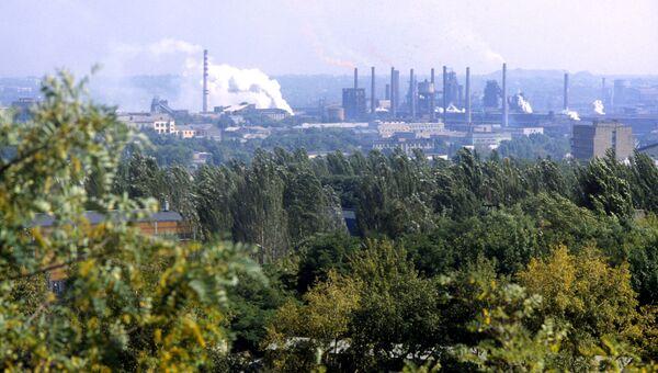 Вид на Донецкий металлургический завод. Архив
