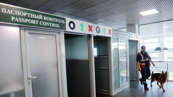 У зоны паспортного контроля нового международного аэропорта в Жуковском. Архивное фото