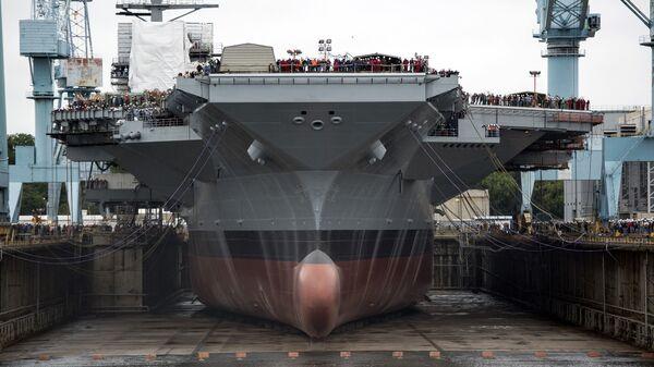 Авианосец USS Gerald R. Ford (CVN-78) в сухом доке