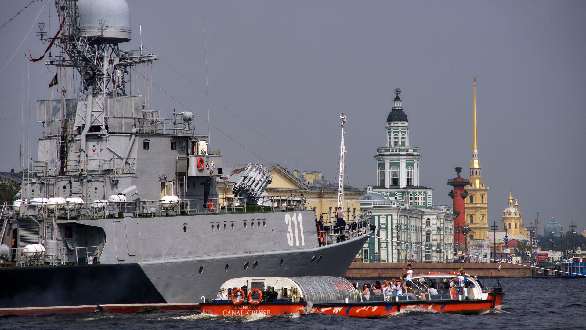Малый противолодочный корабль Казанец в акватории реки Невы - РИА Новости, 1920, 23.09.2020