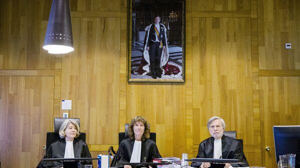 Заседание по делу Юкоса в Международном арбитражном суде в Гааге. Февраль 2016 года