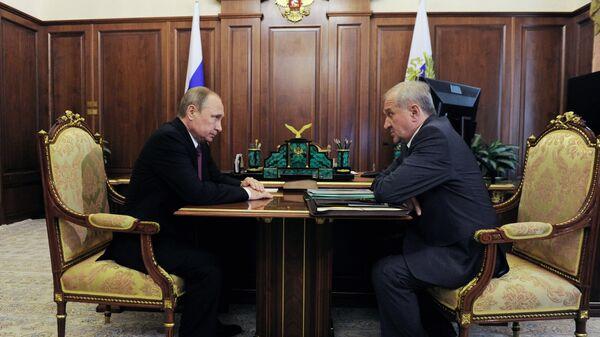 Президент РФ В. Путин встретился с Владимиром Булавиным