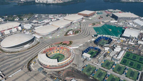 Вид с воздуха на Олимпийский парк в Рио - де - Жанейро, Бразилия